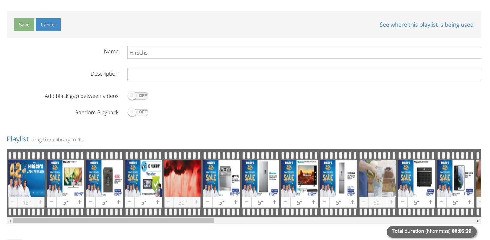 Video Displayss for in-store retail outlets